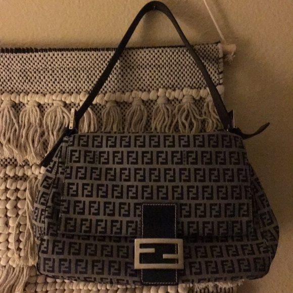cd5a685c9776 Fendi Handbags - Fendi zucchini mama grey and navy authentic